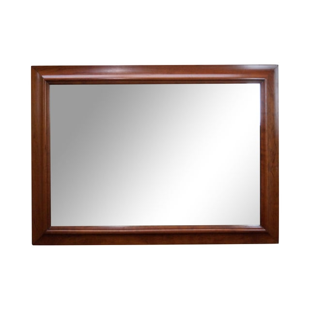 Stickley Solid Cherry Frame Rectangular Mirror - Image 1 of 10