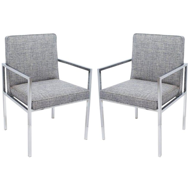 Pair of Mid-Century Modern Side Chairs by Milo Baughman - Image 1 of 9