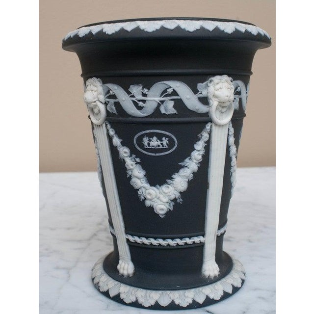 """Exquisite classical detail, excellent condition. Impressed marks include: """"Wedgwood,"""" """"ETRURIA,"""" """"ENGLAND"""" and """"7""""."""