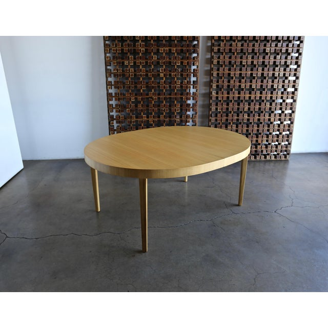 Edward Wormley Bleached Mahogany Dining Table for Dunbar. Circa 1950. This piece has been professionally restored. This...