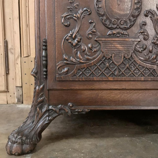 19th Century French Louis XIV Marble Top Buffet For Sale - Image 11 of 13