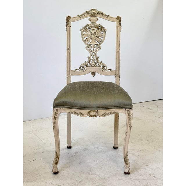 Wood Italian Parcel Gilt Vanity Chair For Sale - Image 7 of 12