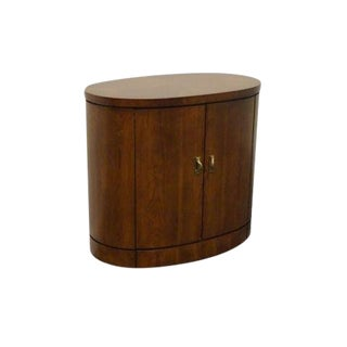 20th Century Traditional Thomasville Kallista Collection Oval Cabinet Nightstand For Sale