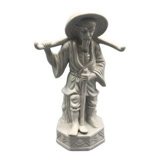 Blanc De Chine Asian Style Figurine For Sale