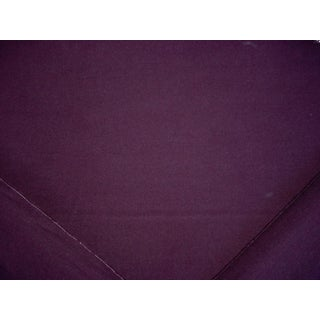 Modern Ralph Lauren Burke Wool Plain Deep Purple Upholstery Fabric- 11-1/8 Yard For Sale