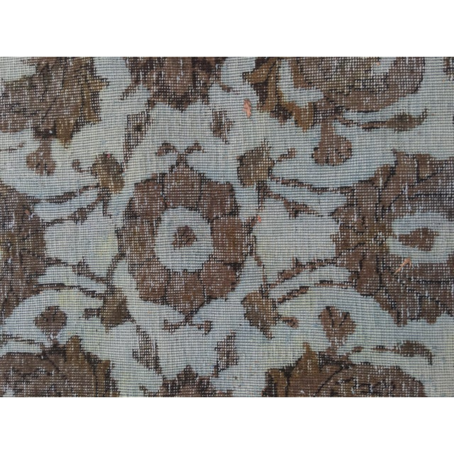 "Overdyed Distressed Persian Rug - 9' X 10'4"" - Image 8 of 10"