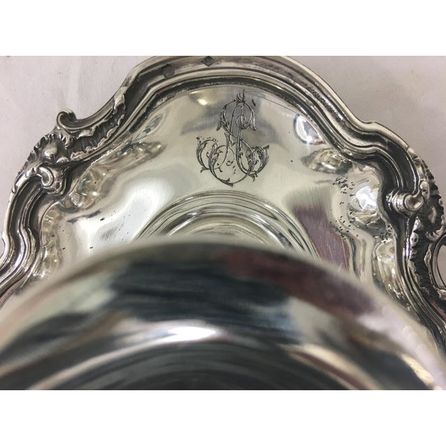 French Sterling Silver Sauce Boat in Francis I Pattern With as Monogram For Sale - Image 6 of 7