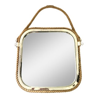 21st Century Nautical Chrome & Rope Mirror For Sale