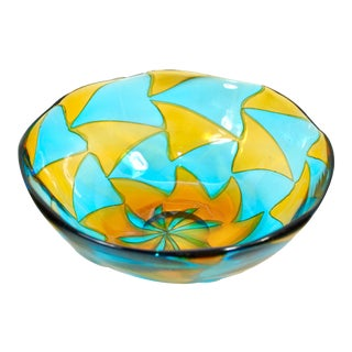 Ercole Barovier for Barovier and Toso Murano Glass Intarsio Bowl For Sale