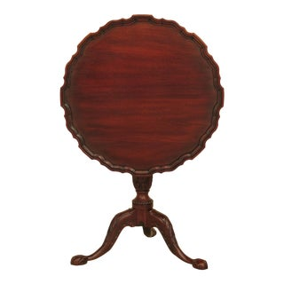 Henkel Harris Claw Foot Mahogany Tilt Top Table