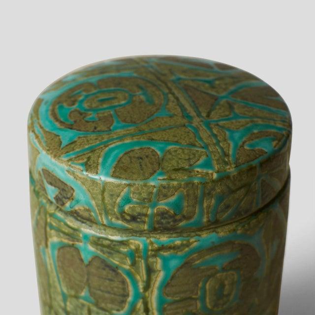Royal Copenhagan Nils Thorsson ceramic jar with lid For Sale - Image 4 of 6