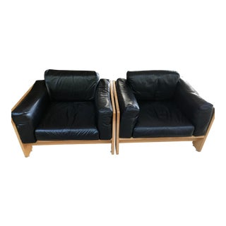 Vintage Tobia Scarpa Designed Knoll Bastiano Club Chairs- A Pair For Sale