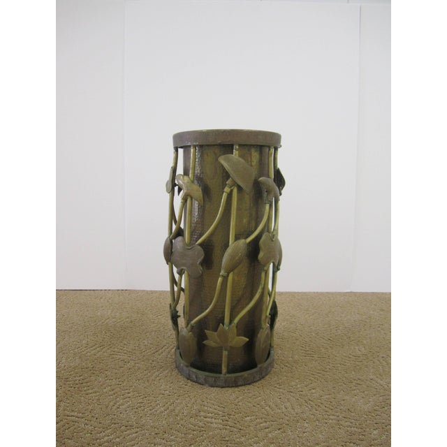 Ardalt Brass Umbrella Stand in the Art Nouveau Style For Sale - Image 4 of 11