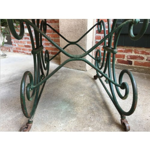 19th Century French Marble Pastry Baker's Table Art Nouveau Green Pâtisserie For Sale - Image 11 of 13