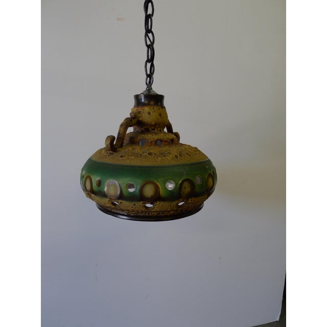 Brutalist Vintage Danish Brutalist Mid Century Ceramic Pendant Light For Sale - Image 3 of 10