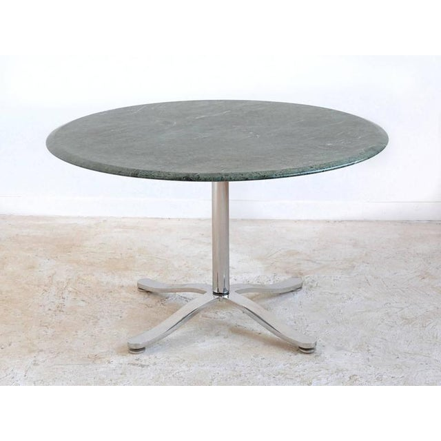 Industrial Nicos Zographos Table with Marble Top For Sale - Image 3 of 8