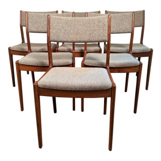 Scandinavian Woodworks Teak Dining Chairs - Set of 8 For Sale
