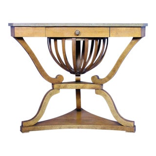 Empire Style Antique Corner Table For Sale