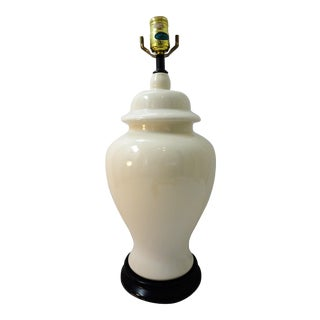 Vintage Royal Haeger White Ceramic Ginger Jar Lamp