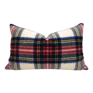 Plaid Wool Blanket Pillow For Sale
