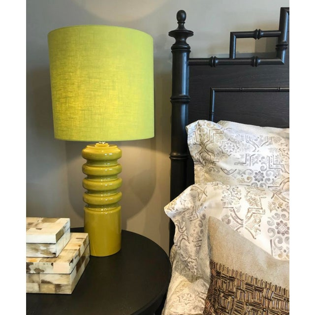 "A Mid-Century Modern Favorite! The Contour Lime Table lamp is 33.5"" in Height and the base is 6"" Wide. The Shade is 15"" in..."