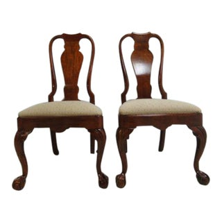 Henredon Ball & Claw Chippendale Dining Room Side Chairs - A Pair For Sale