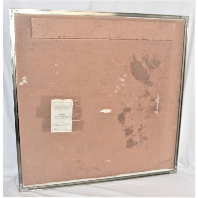 Mid-Century Modern Mixed Media Art in Lucite Box Frame Signed Greg Copeland For Sale - Image 11 of 13