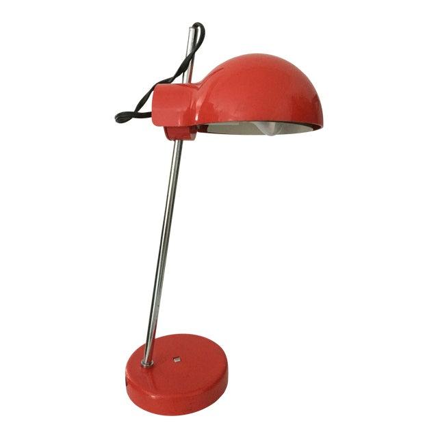 Groovy Red Lightolier Desk Lamp, C. 1969, Mid-Century Modern, Pop Inspired For Sale