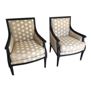 Ethan Allen Giselle Chairs - A Pair For Sale