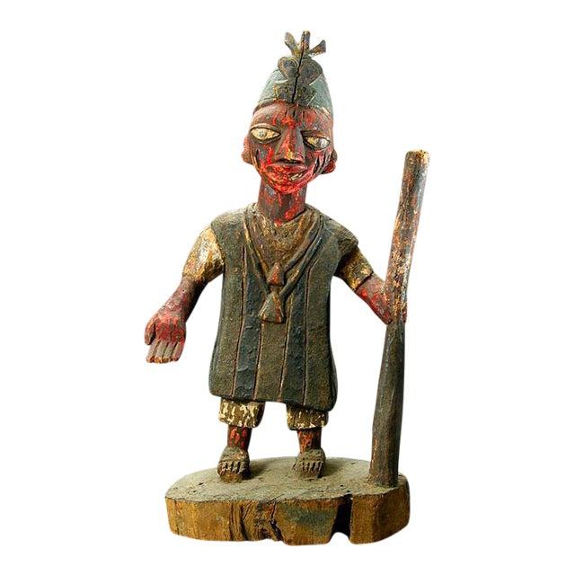 Yoruba Polychrome Sculpture of an Oba For Sale