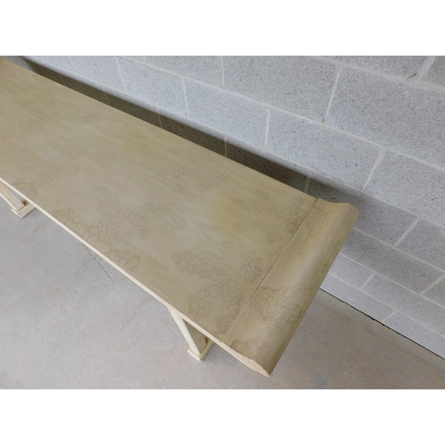 """Asian McGuire of San Francisco Distressed Finish Pagoda Style Console Table 96""""w For Sale - Image 3 of 13"""