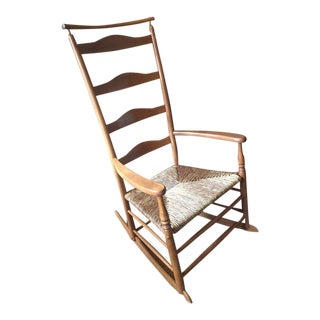 Wooden Maple Shaker Style Rocking Chair For Sale
