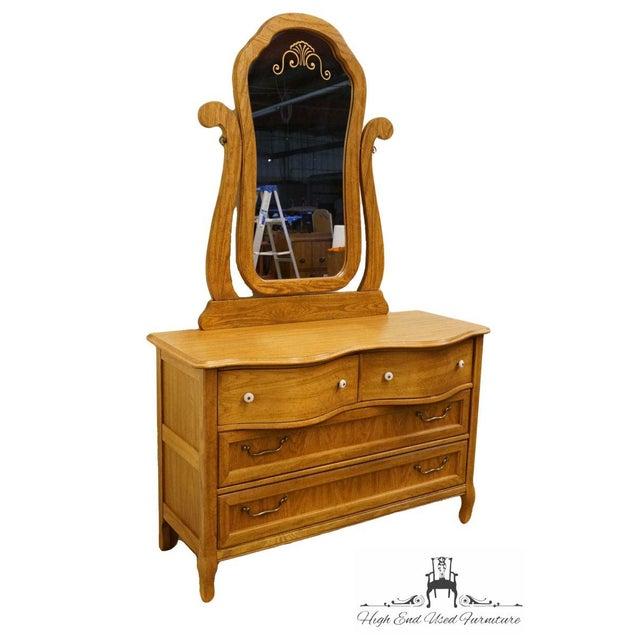 Traditional Pulaski Furniture Keepsakes Collection Oak Dresser & Wishbone Mirror For Sale - Image 3 of 13