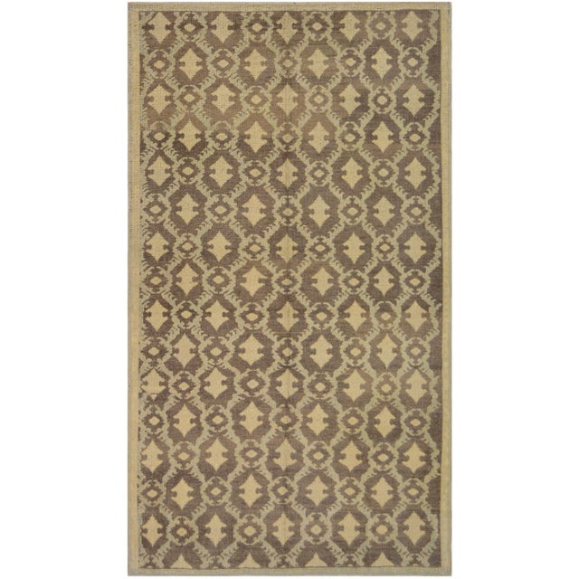 Genuine handwoven rug from Turkey. This rare brand new beautiful rug features a vintage distressed look created...