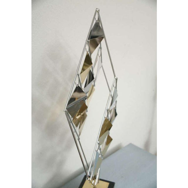 Brass and Chrome Sculpture by Curtis Jere For Sale - Image 9 of 11