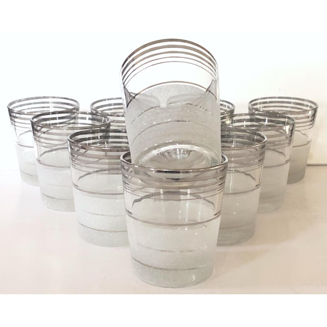 Mid-Century Modern Mid Century Highball/Cocktail Glasses, Set of 11 For Sale - Image 3 of 3