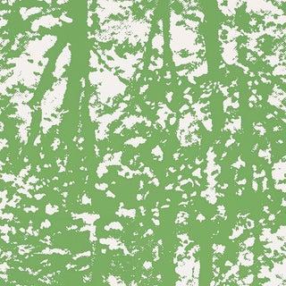 Sample - Schumacher Woodland Wallpaper in Leaf For Sale