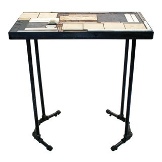 """Modern """"Milan Moresque"""" Mosaic and Metal Console Table For Sale"""