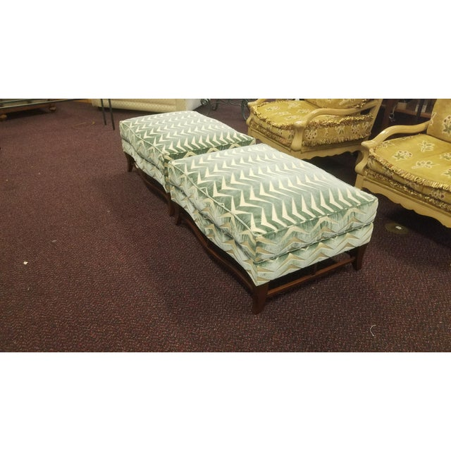 Classic Donghia Victoire Ottomans - a Pair For Sale - Image 9 of 13