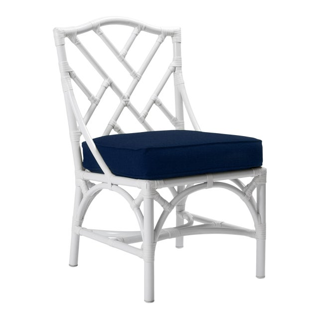 Chippendale Outdoor Side Chair - White For Sale