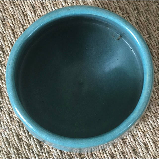 Gorgeous deep turquoise 1930's Spaniel Bowl, so named because the distinct cone shape helps keep long dog ears out of...