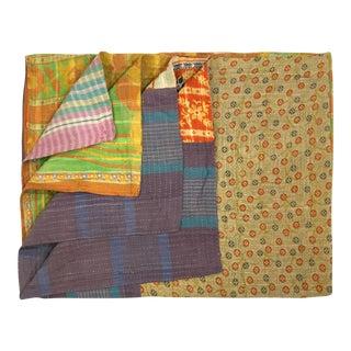 Multi-Patch Vintage Kantha Quilt