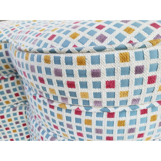 Contemporary Clover Form Ottoman For Sale - Image 9 of 13
