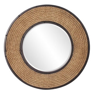 Newport Rope Frame Round Wall Mirror For Sale