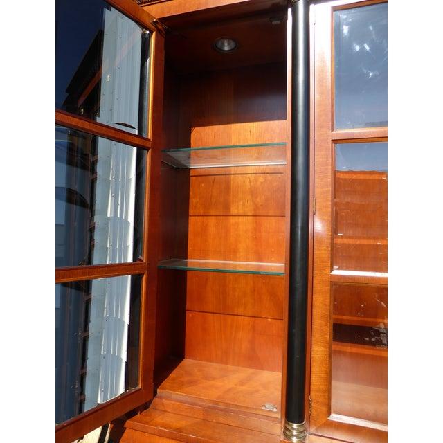 Black Vintage Baker Furniture Federal Style Solid Wood China Hutch Cabinet For Sale - Image 8 of 11