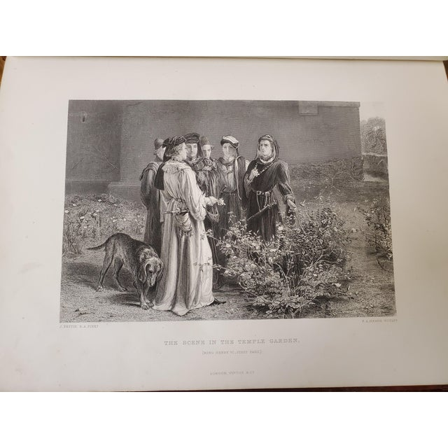 1873 the Works of Shakespeare Books - Set of 4 For Sale - Image 9 of 13