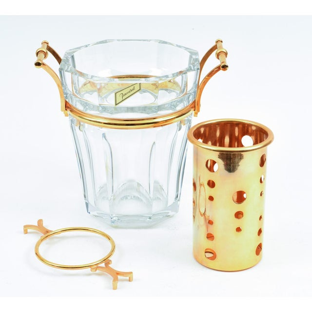 Mid 20th Century Mid-Century Baccarat Crystal Champagne / Wine Cooler Bucket For Sale - Image 5 of 13