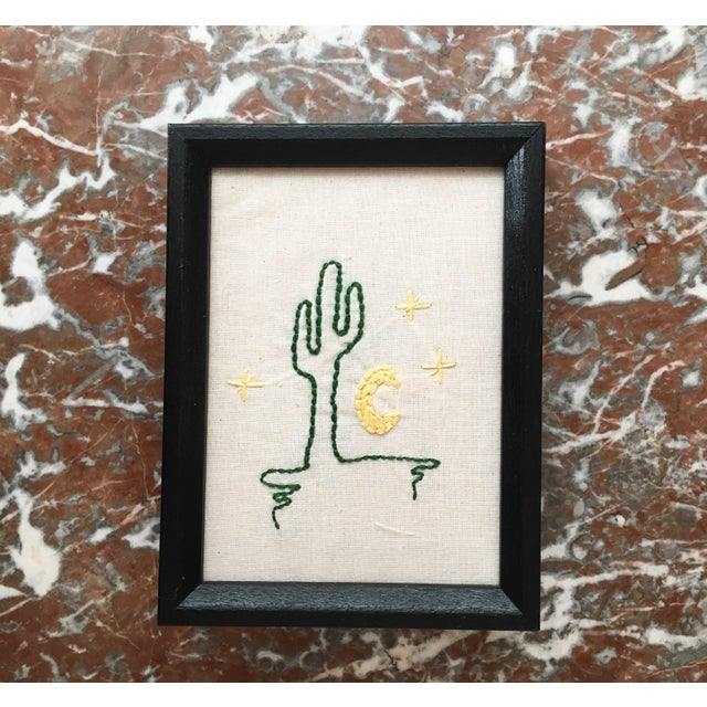 Boho Chic Cactus Moon Embroidery - Image 2 of 3