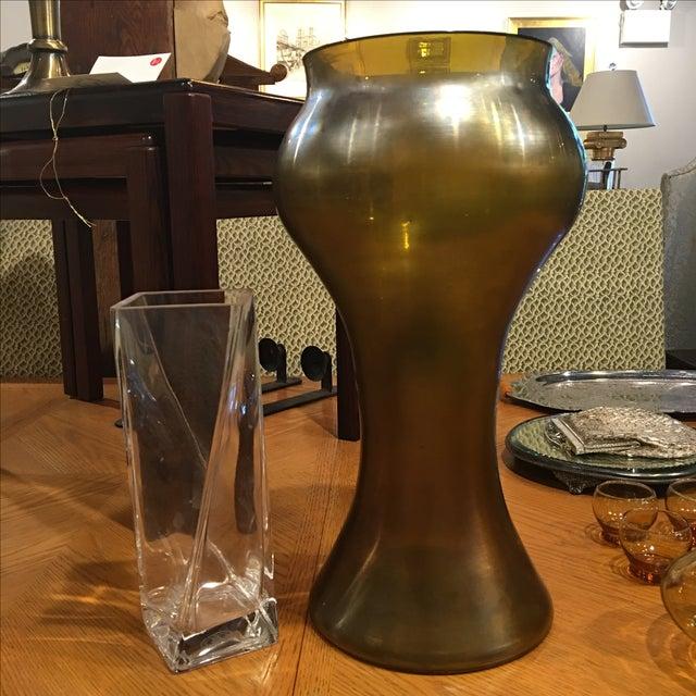 Large Art Nouveau Blown Glass Vase - Image 3 of 6