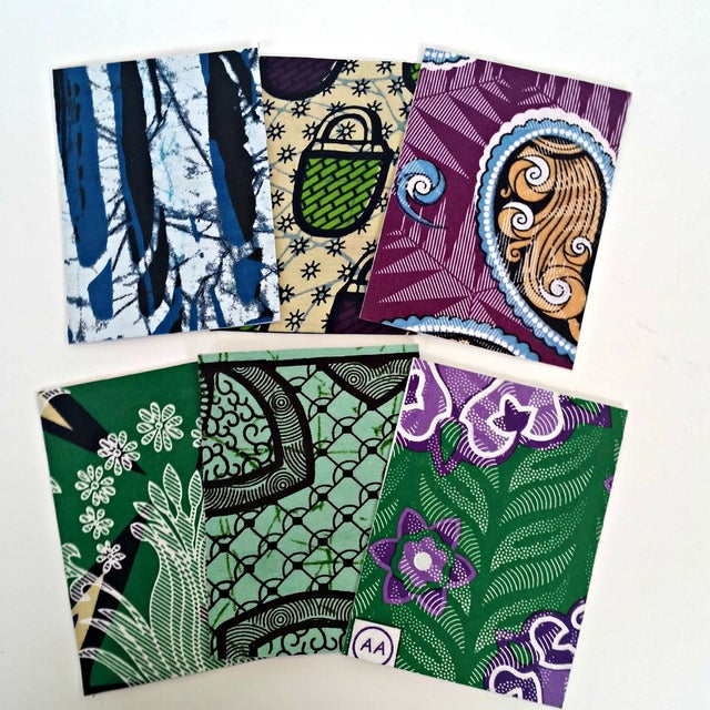 African Wax Fabric Greeting Cards - Set of 10 - Image 2 of 6